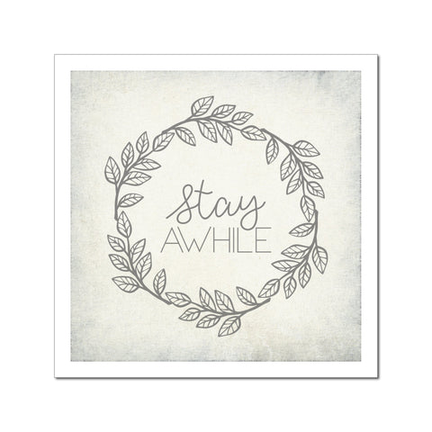 paperlove Vintage Stay Awhile Paper Prints