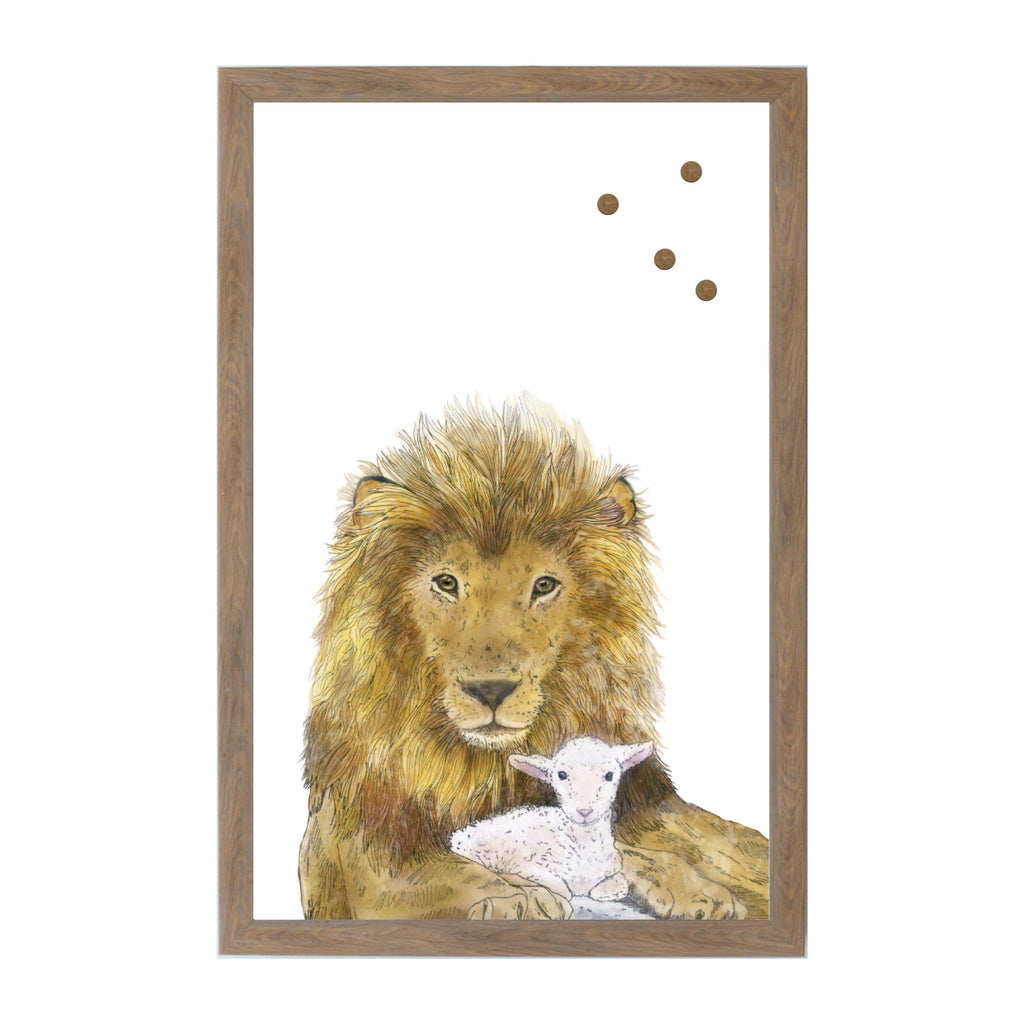Aleia Lion and Lamb Magnet Board