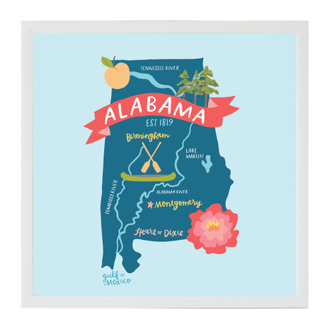 NEW Alexa Destinations Alabama State Map Magnet Board