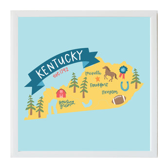 Petal Lane Home Alexa Kentucky State Magnetic Board