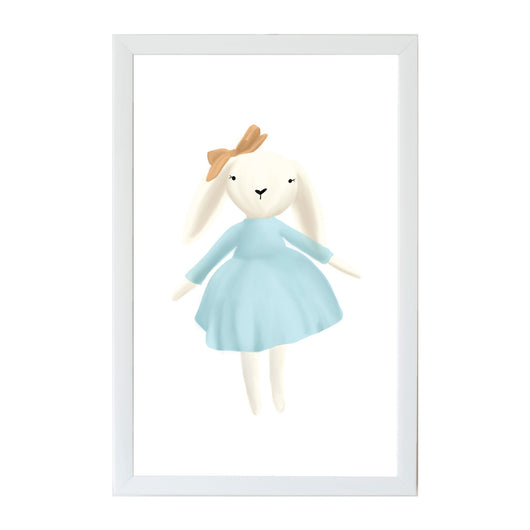 Petal Lane Home Young Kids Animal Friends Bunny in a Dress Magnet Board