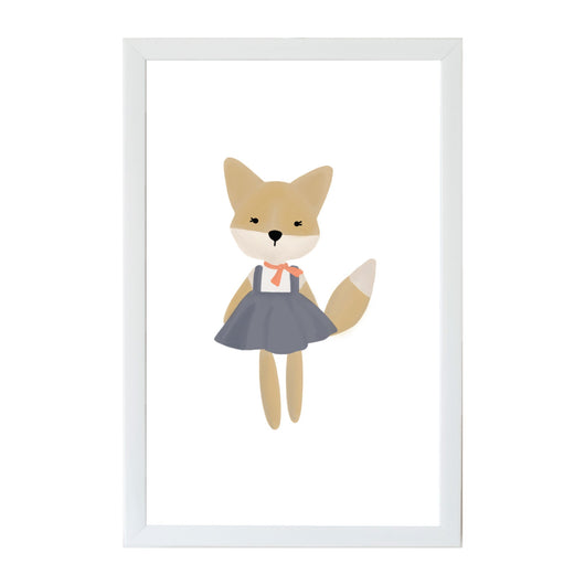 Petal Lane Home Young Kids Animal Friends School Girl Fox Magnet Board