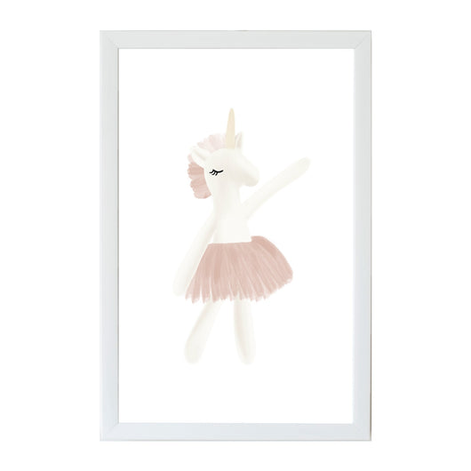 Petal Lane Home Young Kids Unicorn Ballerina Dancing Magnet Board