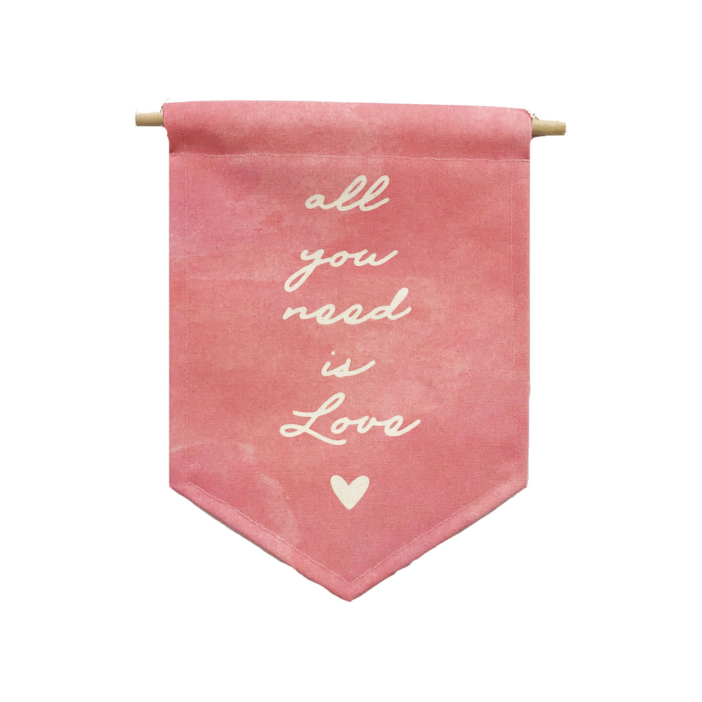 Valentine's bannerlove - All You Need