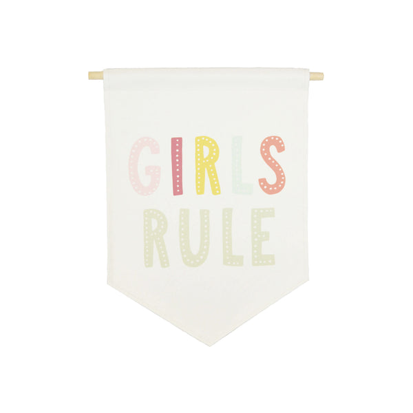 bannerlove Girls Rule Hanging Banner