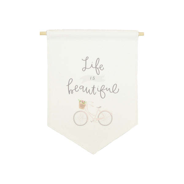 bannerlove Life is Beautiful Hanging Banner
