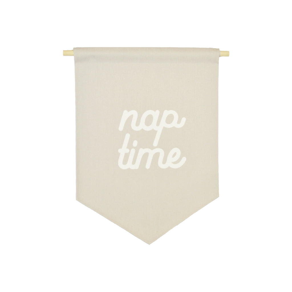 Petal Lane Home bannerlove Nap Time Banner with String and Wooden Dowel