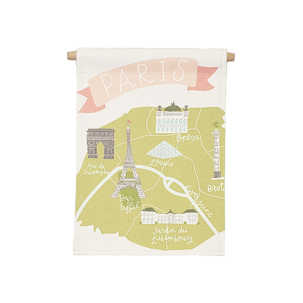 bannerlove Alexa Paris Map Hanging Banner