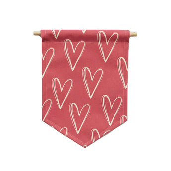 Valentine's bannerlove - Red Heart Patter