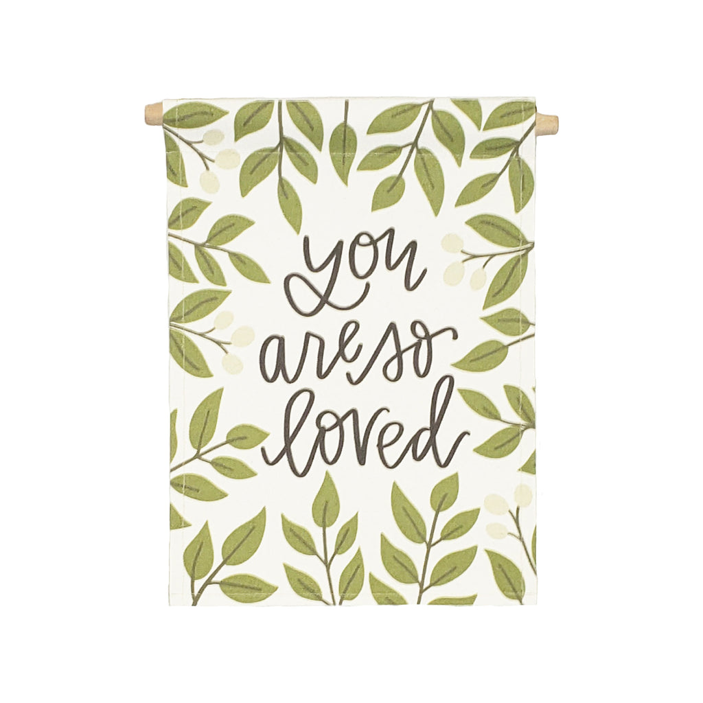 bannerlove Alexa You are So Loved with Leaves Hanging Banner