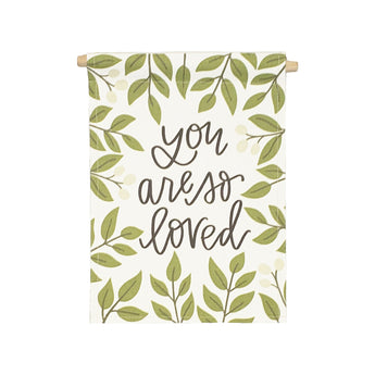 Petal Lane Home bannerlove Alexa You are So Loved Hanging Canvas Banner