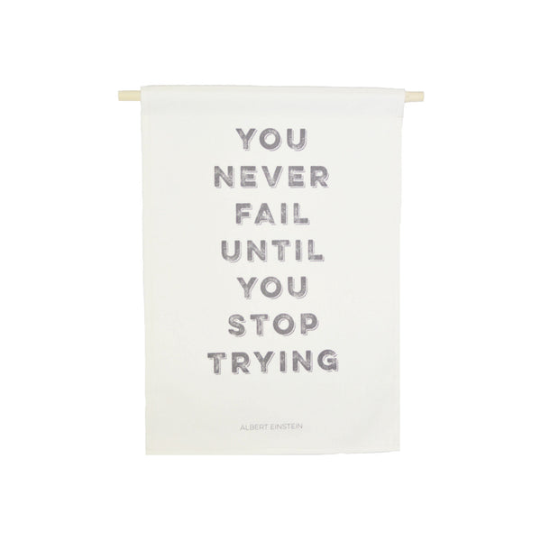 bannerlove You Never Fail Hanging Banner