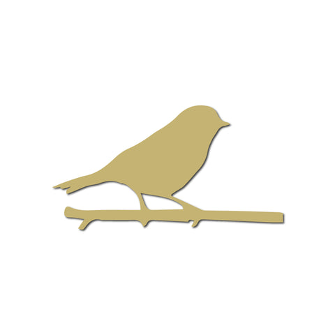 Real Wood Silhouette Bird Magnet