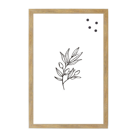 Leaves Botanical Line Drawing