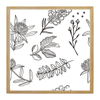 Petal Lane Home Flower Patterned Magnetic Board