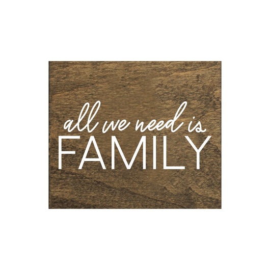 Petal Lane Home Screen Printed All we Need is Family Brown Real Wood Magnet Perfect for Fridge or Magnet Board
