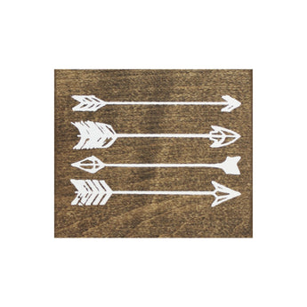 Petal Lane Home Screen Printed Arrows Brown Real Wood Tile Magnet
