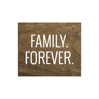 Petal Lane Home Family Forever Brown Real Wood Tile Magnets Perfect for Fridge and Magnet Board
