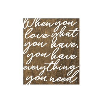 Petal Lane Home When You Love Have Script Borwn Real Wood Tile Magnet for Fridge or Magnet Board