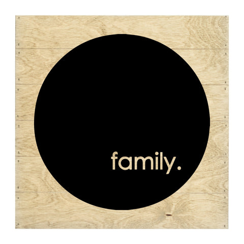 Real Wood Family Silhouette Cut-Out Slat Board
