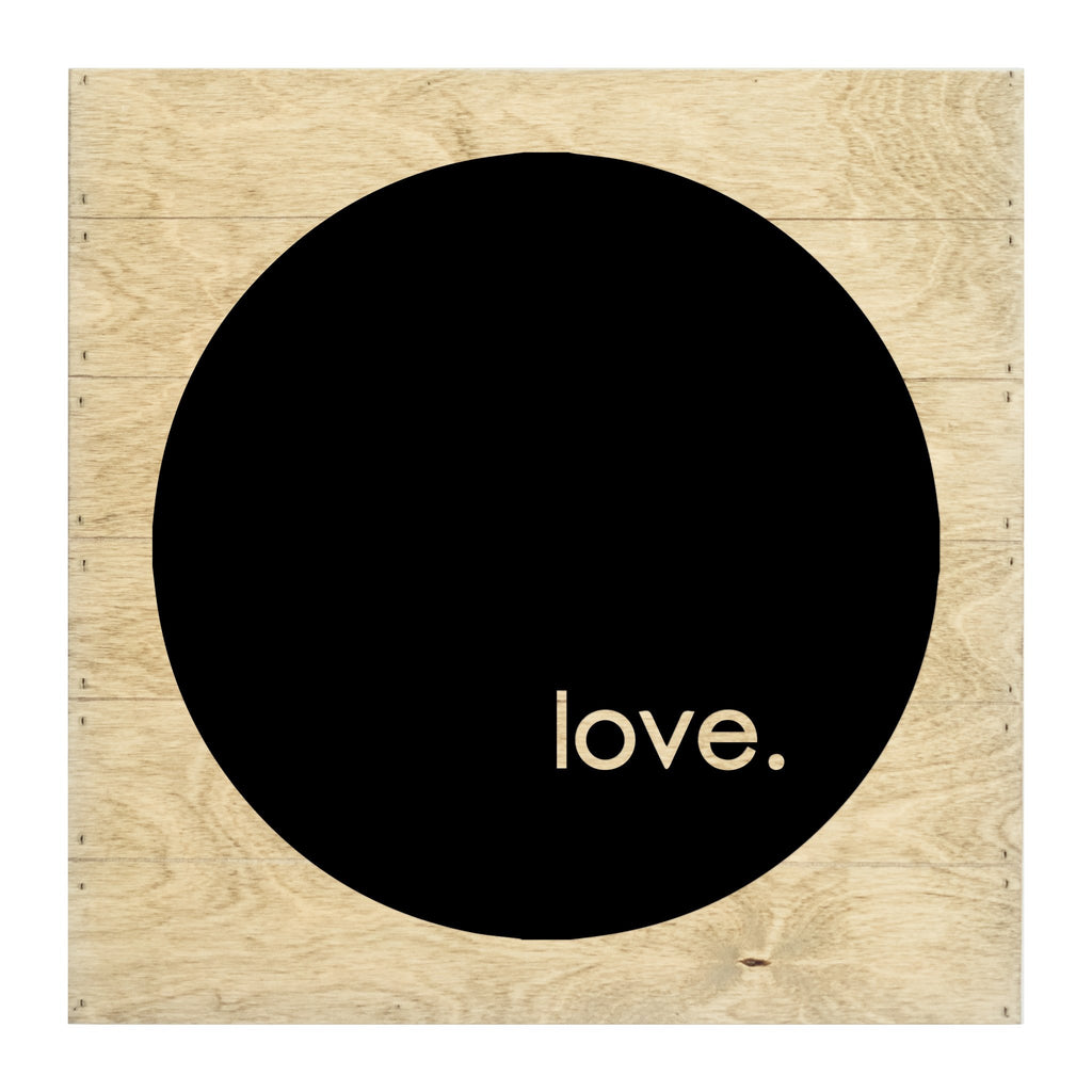 Real Wood Love Silhouette Cut-Out Slat Board