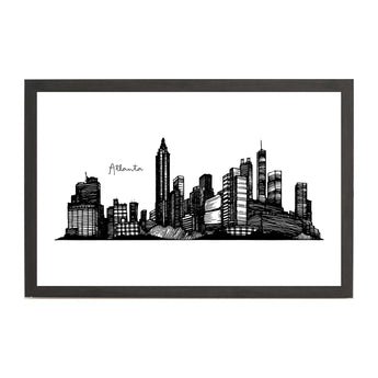 Atlanta Cityscape Line Drawing