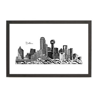 Dallas Cityscape Line Drawing