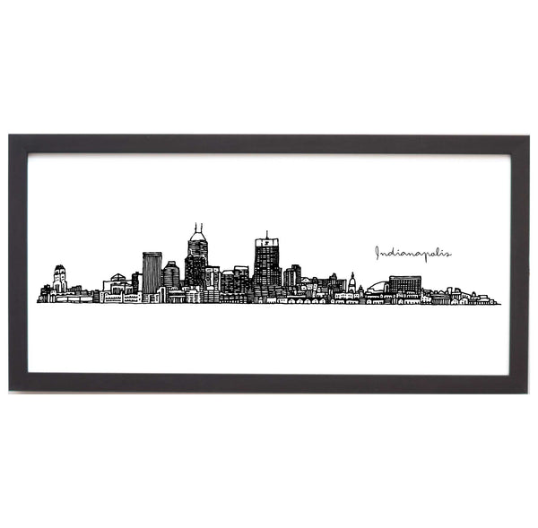 Indianapolis Cityscape Line Drawing