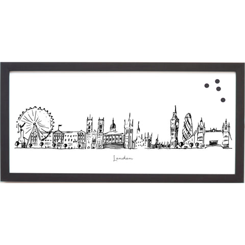 London Cityscape Line Drawing