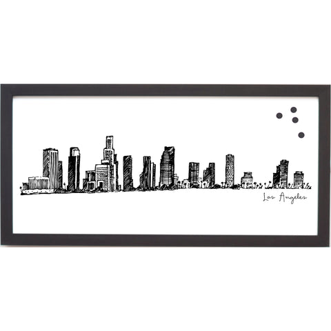 Los Angeles Cityscape Line Drawing