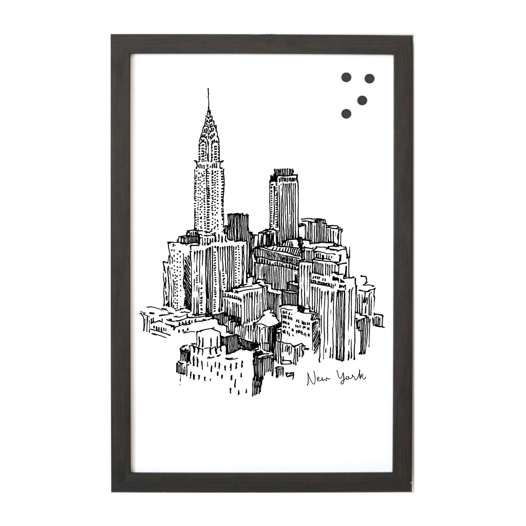 New York Cityscape Line Drawing