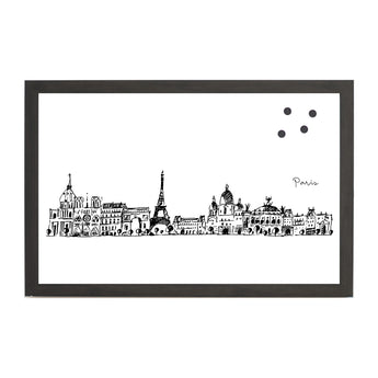 Petal Lane Home Ebony Framed Paris Magnetic Board