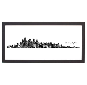 Philadelphia Cityscape Line Drawing