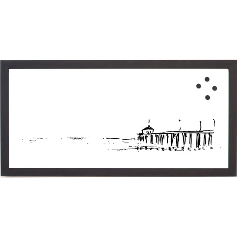 NEW Coastal Pier Distance Line Drawing Magnet Board