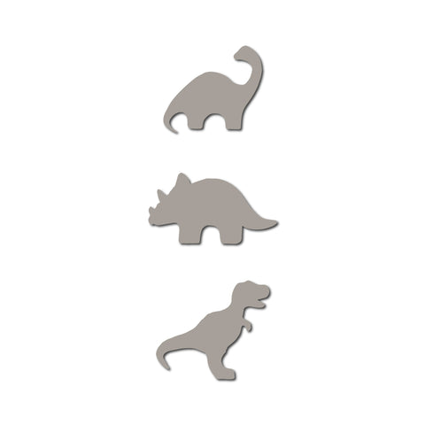 Real Wood Silhouette Dinosaur Set Magnets