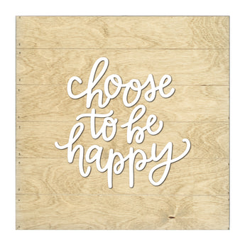 Petal Lane Home Real Wood Slat Board with Raised Letters Choose to be Happy