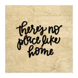 "Petal Lane Home Real Wood Driftwood Slat Board ""There's no Place Like Home"" with Raised Letters"
