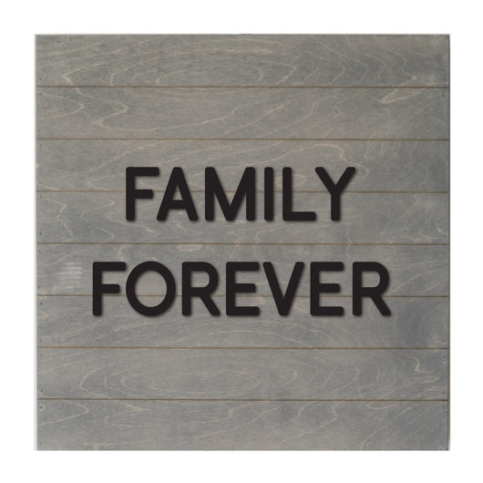 Petal Lane Home Real Wood Gray Slat Board