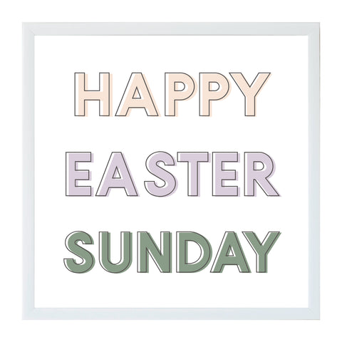Spring Happy Easter Sunday Magnet Board