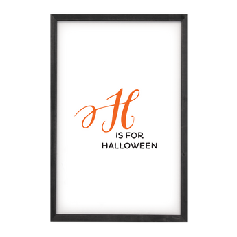 Petal Lane Home H is for Halloween Magnet Board