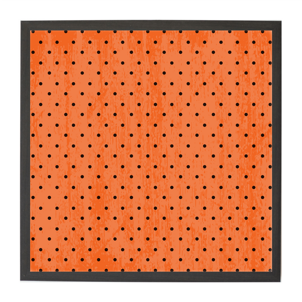 Halloween Black and Orange Polka Dots Seasonal Magnet Board