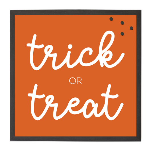 Halloween Trick or Treat Orange Seasonal Magnet Board