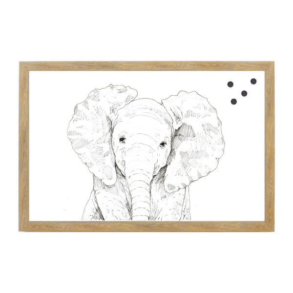 Baby Jungle Animals Line Drawn Elephant
