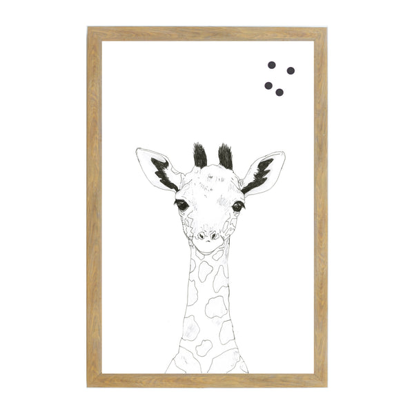 Baby Jungle Animals Line Drawn Giraffe