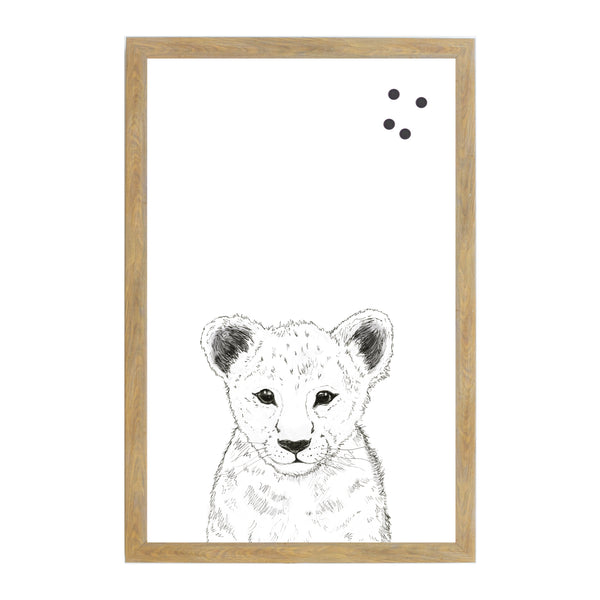 Baby Jungle Animals Line Drawn Lion Face