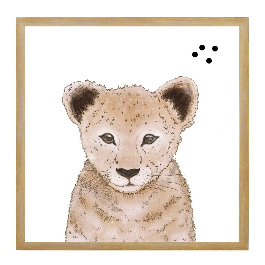 Baby Jungle Animals Lion Face