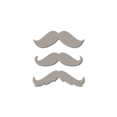 Real Wood Silhouette Stache Mini Magnets