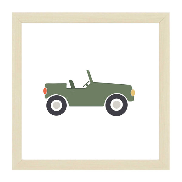 Natural Kids Green Jeep