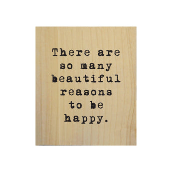 Petal Lane Home Screen Printed So Many Beautiful Reasons Real Wood Natural Tile Magnet Perfect for Fridge and Magnet Board