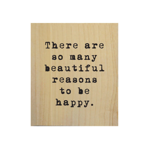 Screen Printed So Many Beautiful Reasons Real Wood Natural Tile Magnet